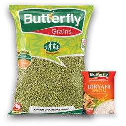Butterfly Green Gram Polished 5Kg