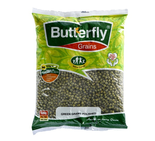 Butterfly Green Grams Polished 500Gm