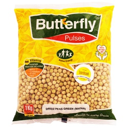 Butterfly Dried Peas White (Matar) 1Kg